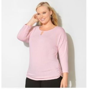 RUCHED KEYHOLE HATCHI TOP